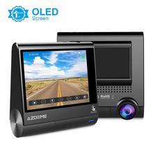 """Azdomm05 3 """"شاشة OLED تعمل باللمس اندفاعة كام 1080P FHD سيارة كاميرا مع نظام تحديد المواقع مسجل دي في أر للرؤية الليلية G الاستشعار وقوف السيارات رصد"""