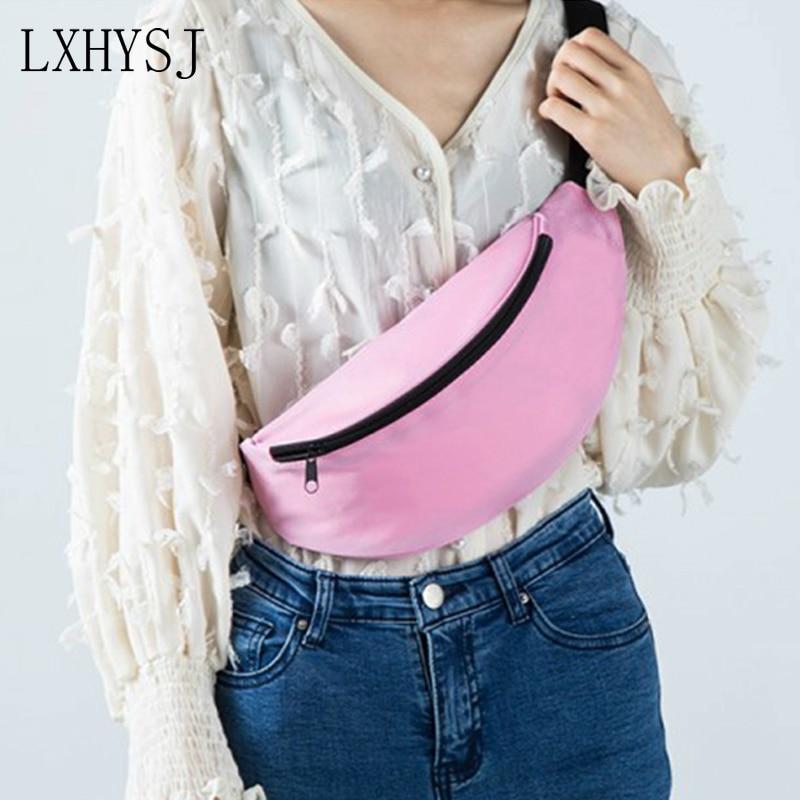New Women Waist Bag Fanny Pack Fashion Unisex Banana Bags Waterproof Shoulder Messenger Bag Chest Pack Belly Hip Pack Wallet