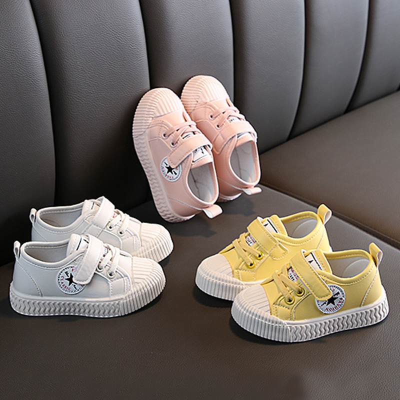 COMFY KIDS New Fashion Children's Boys Sports Shoes Girls Shell Head Shoes, Student Canvas Shoes, Casual, Running
