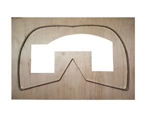 Image 1 - Molde de máscara de couro artesanal, molde de proteção antispray para faça você mesmo, ferramenta de corte