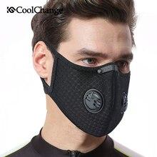 CoolChange Cycling Filtro de la máscara facial Anit-fog Anit-pollution Respirador de carbón activo