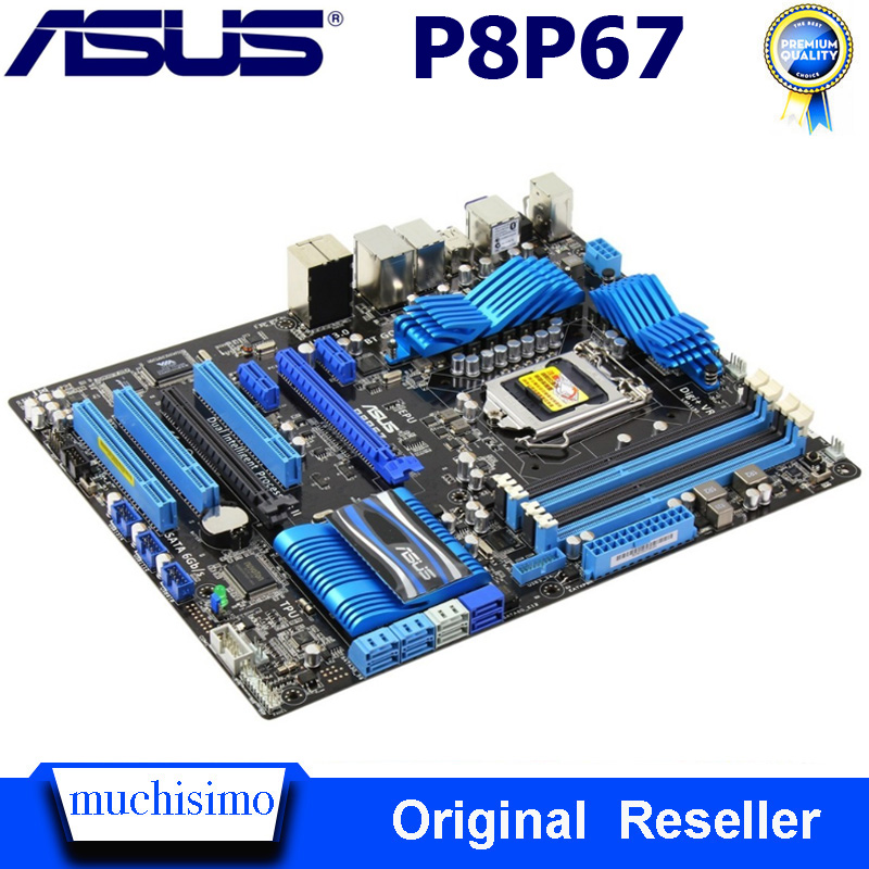 LGA 1155 DDR3 ASUS P8P67 Motherboard Core I7/Core I5/Core I3 32GB PCI-E 2.0 USB3.0 1155 P8P67 Intel P67 Original Used Mainboard