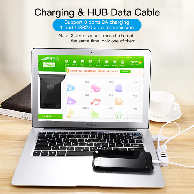 Business Travel Portable device MultiUSB Splitter Adapter Cable