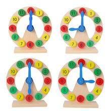 Wooden Toys Learn to Tell Time Digital Clock Montessori Teaching Aids Kids Baby Early Learning for children