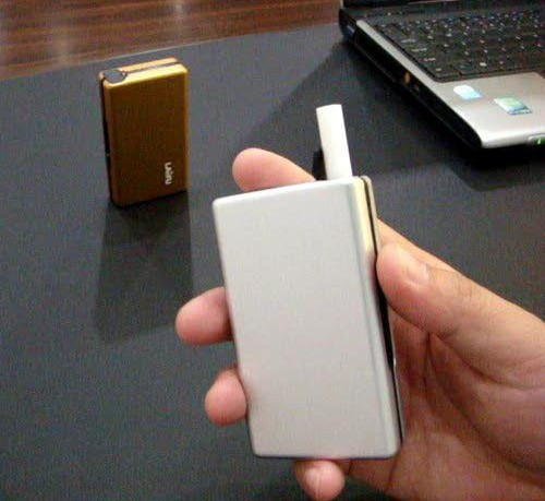 Novo 1 pces-liga de alumínio cigarro caso hold 10 pces automático cigarro caixa/bolso para 8mm cigarros portátil
