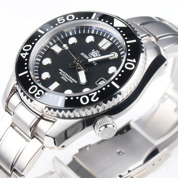 Steeldive 1968 300m Dive Mechanical Watch Men Watches C3 Luminous Stainless Steel For NH35 Sapphire