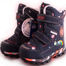 boys and girls snow boots Natural wool inside children snow boots warm  30 degrees waterproof size 27 to 32 wallvell