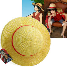 Аниме One Piece Luffy Аниме Cosplay Straw Boater шапочка для пляжа Хэллоуин Солнцезащитная шляпа