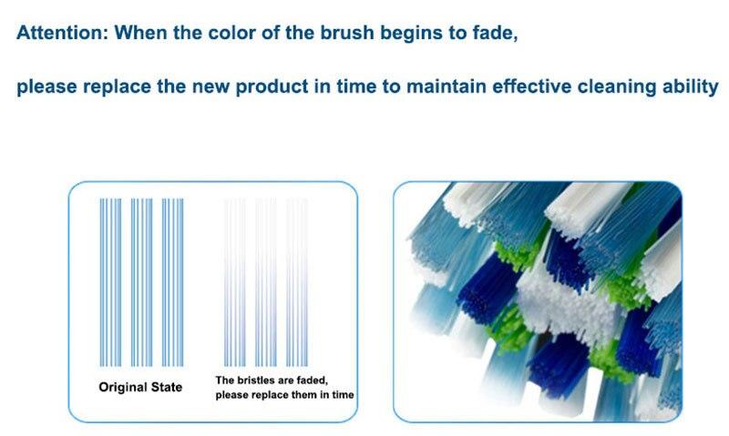 substituição cabeças bocais para dentes limpeza valor pacote