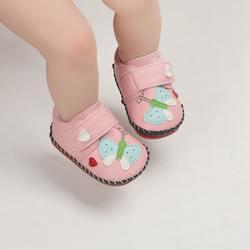 Новинка; 2 цвета; нескользящая обувь с рисунком бабочки для маленьких девочек; кроссовки с мягкой подошвой; обувь для первых прогулок; 0-12 м
