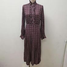 Ruffles Midi Dress Women's Long Sleeve Vintage Floral Printi