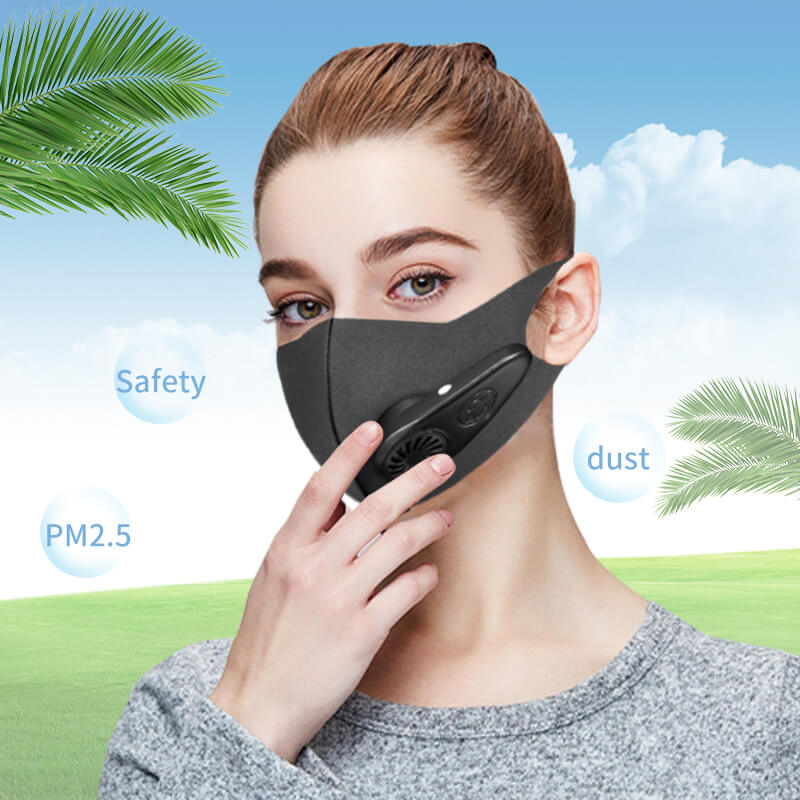 N100 Intelligence Masks Pm2.5 Filter Air Mascarillas Con Anti Pollution Mouth For Face Electric Dust Mask Virus Reusable Black