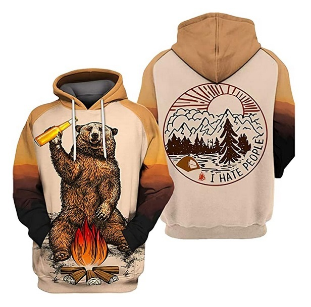 3D Autumn Hooded Sweatshirt Long Sleeve Pullover 2