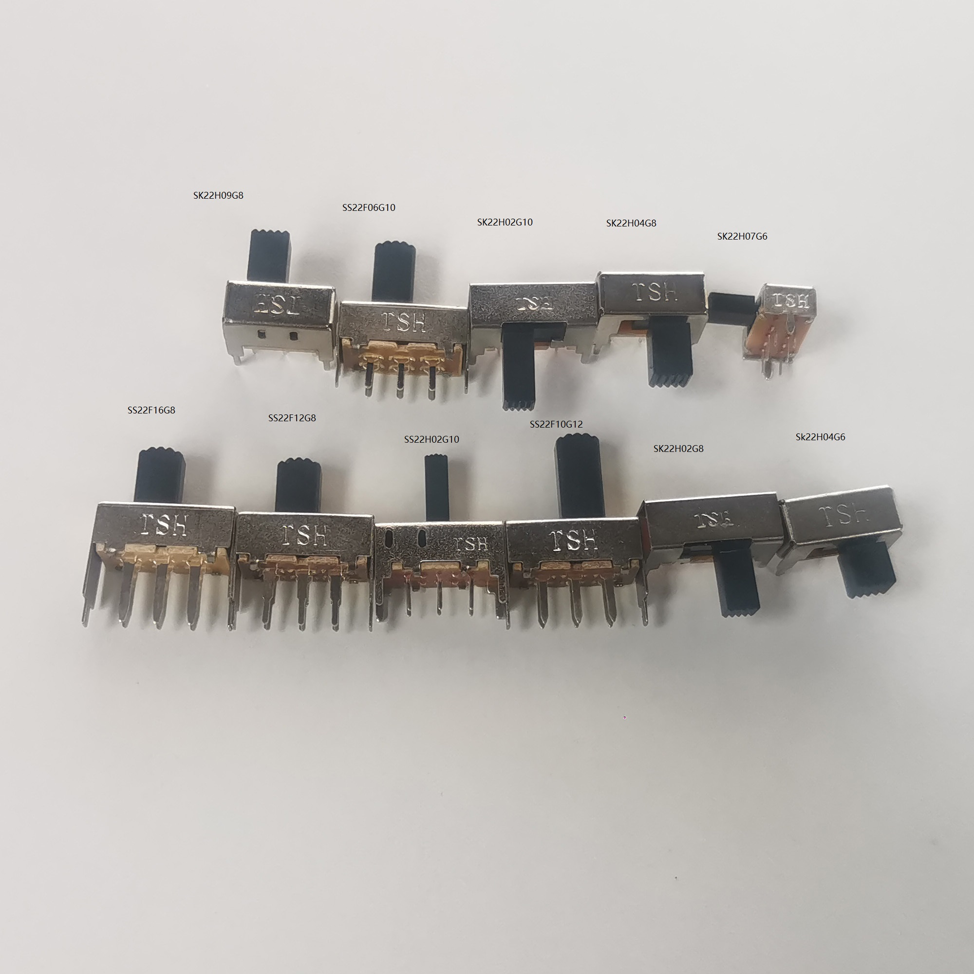 10PCS/Lot 6 Pin toggle switch Slide Switch Horizontal switch lever switch SK22H02G8 2P2T Ex-factor price