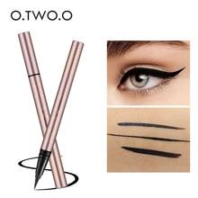 O.TWO.O czarny eyeliner w płynie makijaż oczu Super wodoodporny długotrwałe Eye Liner łatwe do noszenia makijaż oczu makijaż kosmetyki narzędzia