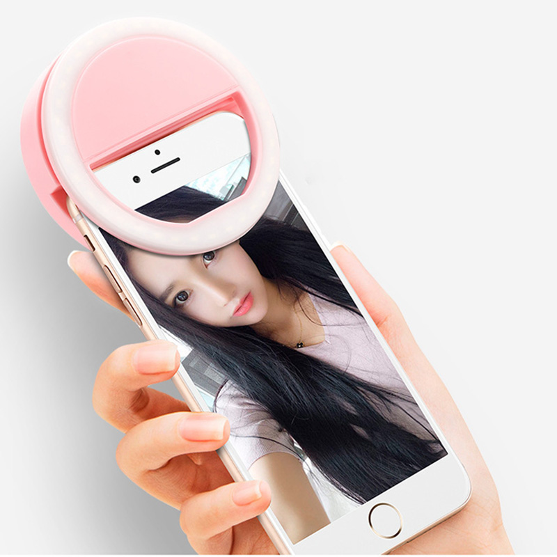 Pink 36LED Selfie Night Light With 3 levels Lighting Night For Cell Phone Photo Lights 12