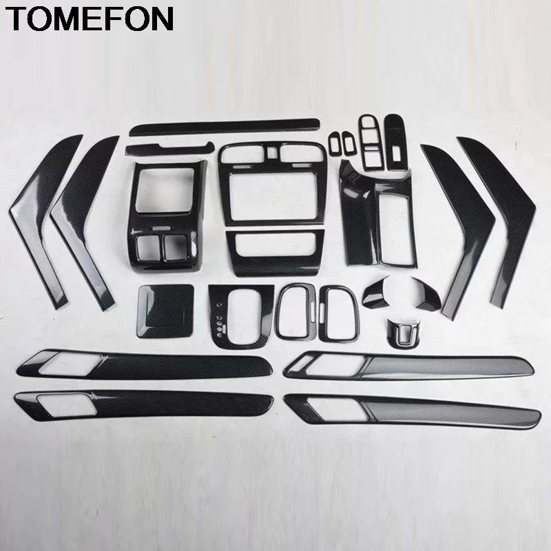 TOMEFON For Volkswagen Golf 6 MK6 2010 2011 2012 Gear Armrest Window Switch Button Handle Vent AC Outlet Cover Trim Accessories