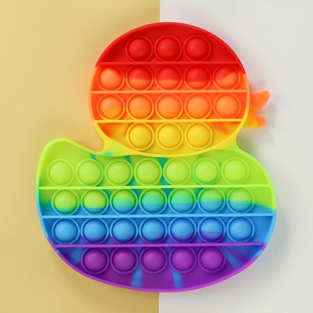 Yellow Duck Animals Fidget Toy Push Bubble Stress Sensory Toy 4