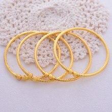 Wando 24k Ближний Восток Φ Дубай золотой цвет браслеты Африка