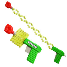 Retractable Fist Shooter Trick Toy Gun Funny Child Kids plastic Party Festival Gift Just For fun Classic Elastic Telescopic