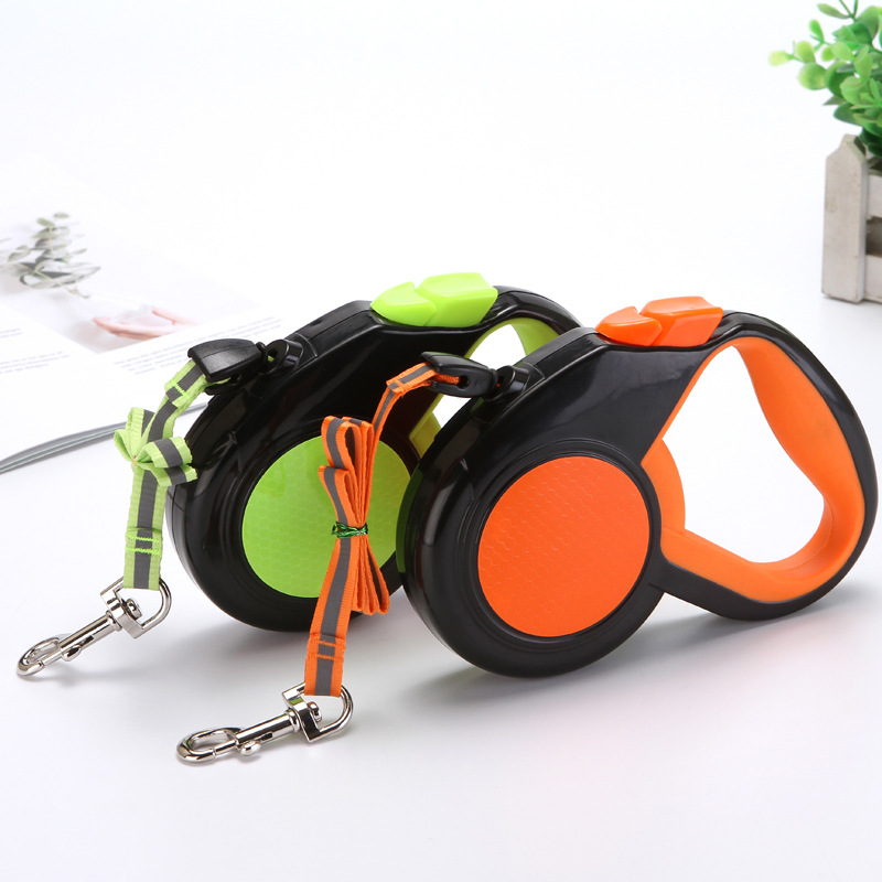 Pet Supplies Retractable Automatic Traction Medium Large Dog For Dog Dog Hand Holding Rope 5 M
