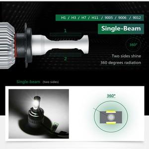 Image 5 - Partol H4 H7 H11 H1 araba LED far lambaları 72W LED 9005 9006 H3 9012 H13 5202 COB otomobil sis kafa lambası ışığı 6500K 12V 24V