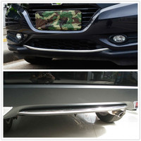 ABS Chrome External Front And Rear Bumper Grill Cover Trim Decoration For Honda HRV HR V Vezel 2014 2015 2016 2017 2018