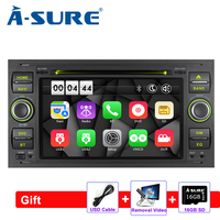 A Sure 2 Din Car Auto Radio GPS DVD Player Navigation For Ford Transit Focus Galaxy S Max C Max Fusion Fiesta SWC Bluetooth DVD