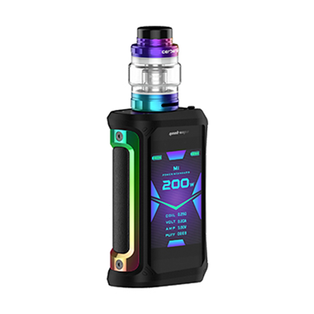 2pcs/set NEW Geekvape Aegis X 200W Vape Kit w/ 2.4 inch OLED Screen & AS2.0 Chipset E cig Box Mod Kit Vs Aegis Solo/ Legend/ GEN - 6