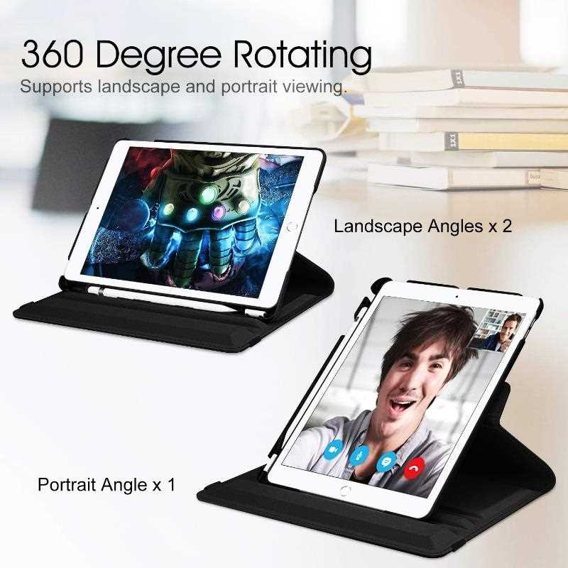Mokoemi Fashion 360 Rotate Stand Case For Samsung Galaxy Tab S5e T720 T725 Tablet Case Cover-4