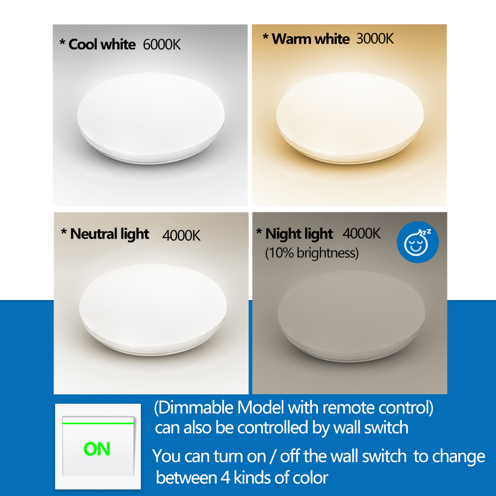 lowest price LUCKYLED Led Ceiling Light Dimmable Modern Ceiling Lamp 220V 110V Surface Mounted Light Fixtures for Kitchen With Remote Control