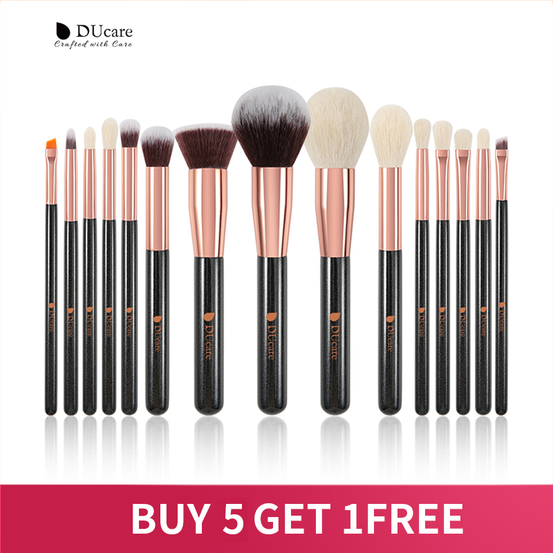 DUcare 15PCS Makeup brushes set Professional Natural goat hair brushes Foundation Powder Contour Eyeshadow make up brushes|Eye Shadow Applicator| - AliExpress