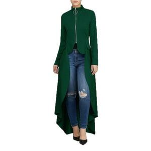 Image 2 - Muslim Blouse Women Fancy Zipper Abaya Dress with irregular swallow tails muslim shirt Hijab dress