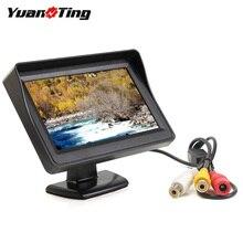 YuanTing 4.3 Cal TFT kolorowy wyświetlacz lcd monitor z widokiem z tyłu samochodu 2 Way wejścia wideo ekran dla pojazd Backup kamery parkingowe