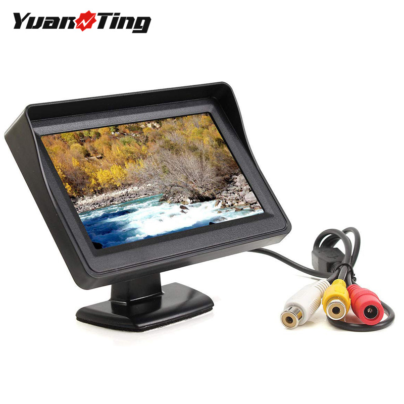 Yuanting Monitor Screen Display Video-Input Parking-Cameras Lcd-Color Car-Rear-View TFT title=