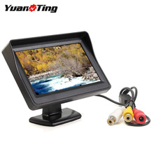 YuanTing 4.3 inç TFT LCD renkli ekran araba dikiz monitörü 2 yönlü Video girişi için araç yedekleme park kameralar