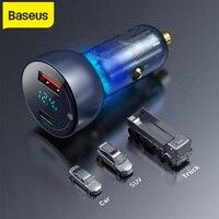 Baseus-cargador rápido Dual tipo C para móvil, tableta, portátil, 65W, QC + PPS, adaptador de carga automática