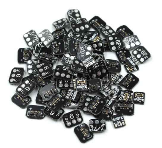 1 個 iphone 5C 5S 6 6P 6S 6SP 7 7 1080P 8 8 p プラス x 電源修理電源フレックスコネクタマザーボードブーツバッテリーシート