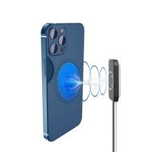 Mini chargeur magnétique sans fil Qi 15 w, support de téléphone de bureau pour iPhone12 Pro/Mini/Max, charge rapide