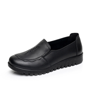 Image 2 - BEYARNEWomens shoes made of large genuine leather 4.5 9 sliding flat shoes for women  slip flat shoesE1025