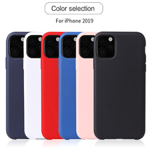 Luxury Original Liquid Silicone Phone Case For iphone 11 Pro Max 7 8 6 Plus X XS MAX XR Sealed Shockproof Soft Cover