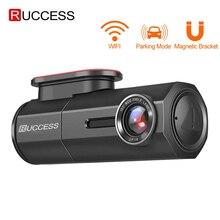 RUCCESS CAR DVR Full HD 1080P Dash Cam con WIFI Videocamera per auto Registratore 24 Ore di Parcheggio Monitor di Visione Notturna Inglese /Russia Versione