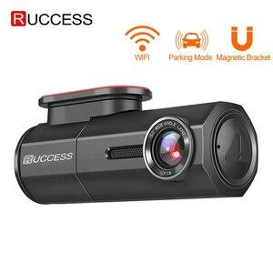 Image 1 - RUCCESS araba dvrı Full HD 1080P çizgi kam WIFI araba kamera kayıt cihazı 24H park monitörü gece görüş İngilizce/rusya versiyonu