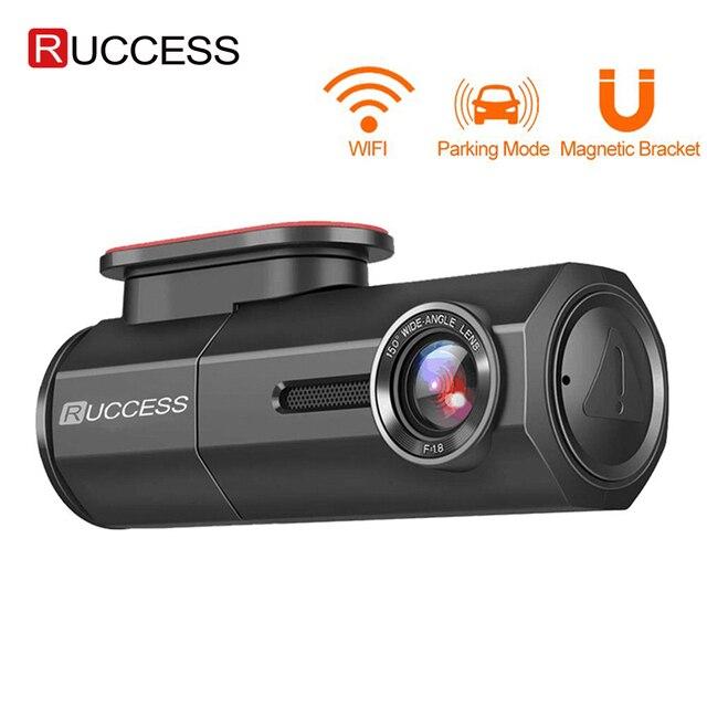 RUCCESS araba dvrı Full HD 1080P çizgi kam WIFI araba kamera kayıt cihazı 24H park monitörü gece görüş İngilizce/rusya versiyonu
