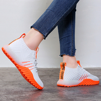 2019 Platform Sock Women Black Orange Green Off White Sneakers Chunky Shoes Mesh Tenis Feminino Trainers Casual Shoes FM A22