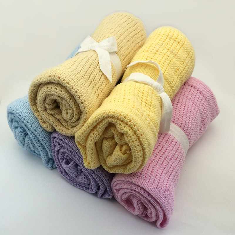 Baby Blankets Summer Cotton 8 Candy Colors Travel Stroller Towel  Newborn Baby Bedding Swaddle Toddler Photography Prop 65*90cm