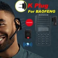 Walkie-talkie Auriculares inalámbricos con Bluetooth, auriculares inalámbricos de Radio bidireccional, BT, K, para Baofeng UV 5R, KSUN, Retevis, Kenwood