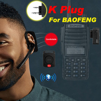 kenwood baofeng uv Bluetooth מכשיר הקשר Wireless Headset שני הדרך רדיו אלחוטי אוזניות אפרכסת K סוג לקבלת Baofeng UV-82 KSUN Retevis Kenwood (1)