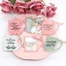 Kscraft Cangkir Kopi Shaker Kategori Transparan Bening Silikon Stamp Cutting Dies Set untuk Diy Scrapbooking/Photo Album Dekoratif(China)