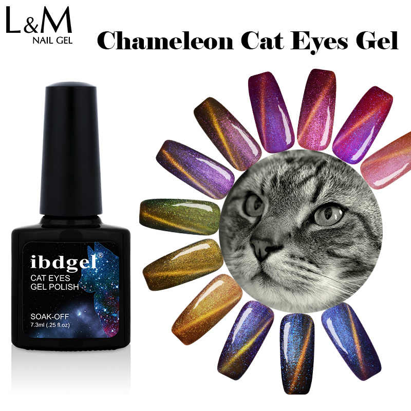 1 PC Chameleon Cat Eyes Murni Warna Gel Cat Kuku UV Tiger Gel Polish Rendam Off Cat Gel Lak Ibdgel 7.3 Ml Magnetic Vgel Bahasa Polandia